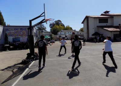 Basketball at lunch